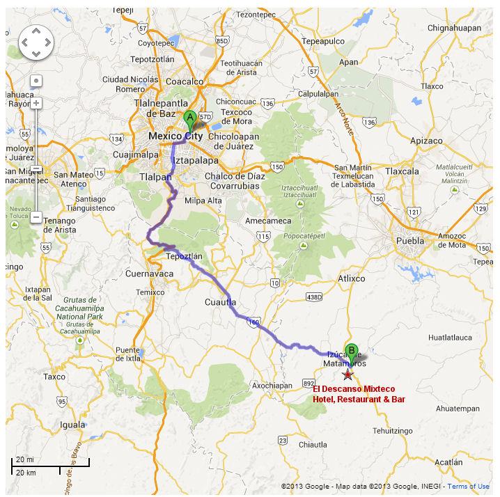 Driving Mexico City Df To Rancho Agua Escondida